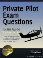 Private Pilot Exam Secrets - 1100 Questions and Answer Ground School PPL